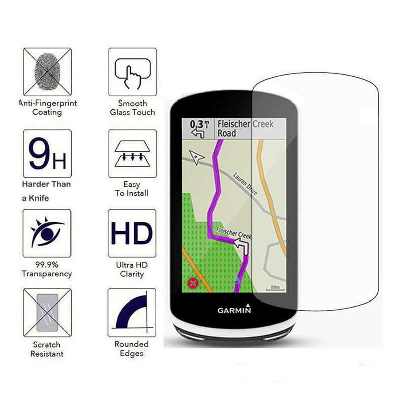 Silicone Protective cover for Garmin Edge 820 GPS & Tempered Glass screen  cover