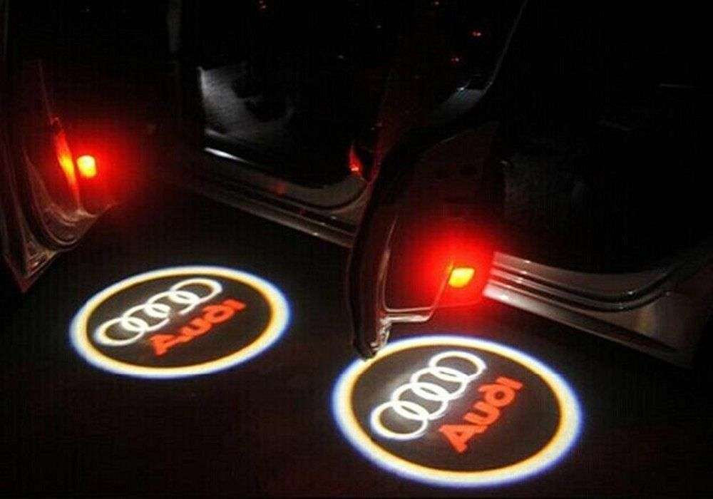 Audi CREE LED Projector Car Door Lights Shadow Puddle Courtesy Laser LOGO Light