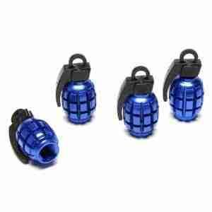 Blue Grenade Valve Caps
