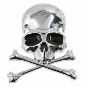 Silver Metal Skill and Cross Bones